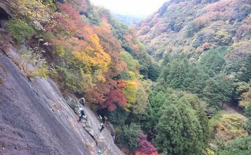 2017/11/19 丹沢・広沢寺 アイゼントレ―ニング&フリークライミング