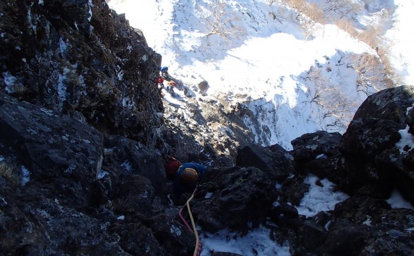 2018年1月7日 八ヶ岳 小同心クラック アルパインクライミング