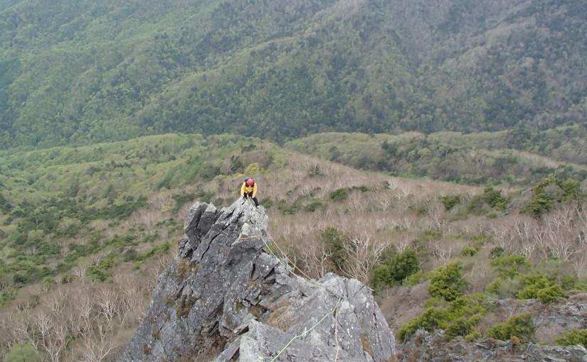 2018年5月13日 乾徳山 旗立岩中央稜&第一岩稜
