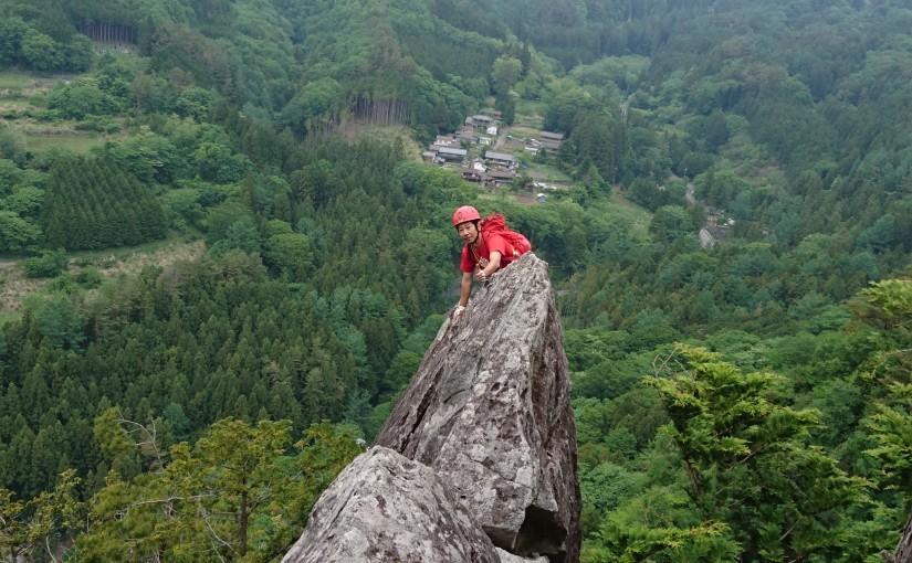 2019年6月2日 太刀岡山 左岩稜 マルチピッチクライミング